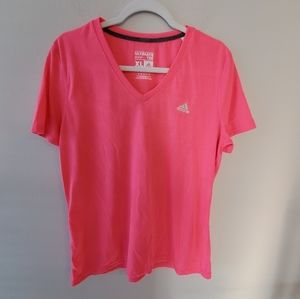 Adidas hot pink active Ultimate Tee size XL